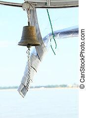 navio, desporto, velejando, sino