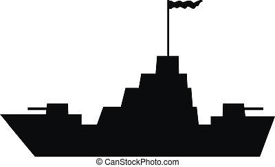 navio guerra, ícone