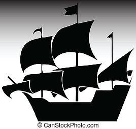 navio, ilustração