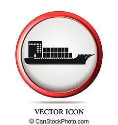 navio, jogo, bote, ícones