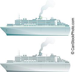 navio linha regular passageiro