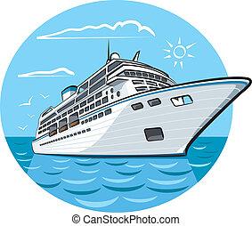 navio, luxo, cruzeiro