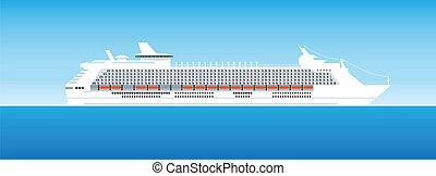 navio, mar