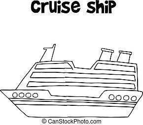 navio, transporte, cobrança, cruzeiro