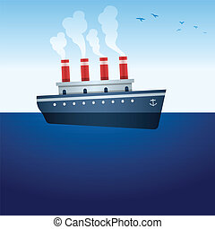 navio, vapor
