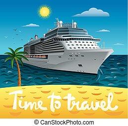 navio, viagem, cruzeiro