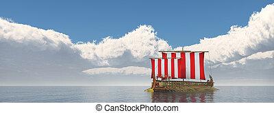 navire guerre, grèce antique
