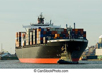 navire porte-conteneurs, énorme