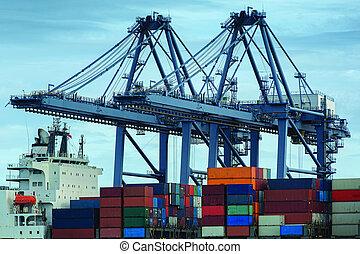 navire porte-conteneurs, fret, cargaison