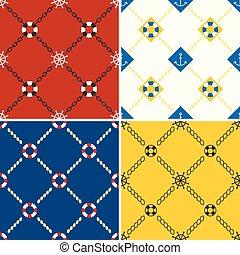 navy and nautical pattern theme, seamless pattern and...