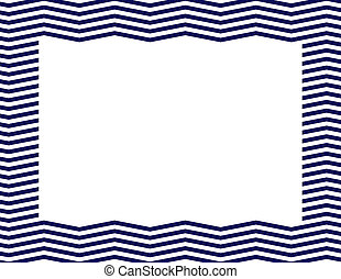 Navy Blue Chevron Frame Background with center isolated for copy-space, Navy Blue Chevron Frame