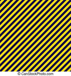 Navy Blue & Gold Diagonal Stripe - Seamless diagonal stripes...
