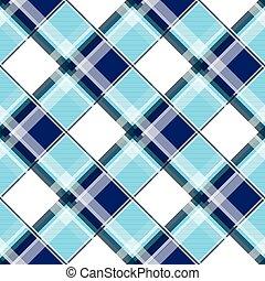 Navy Blue Green White Diamond Chessboard Background
