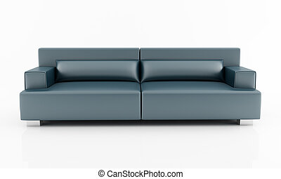 navy blue modern couch