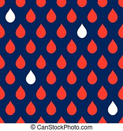 Navy Blue Red White Water Drops Background