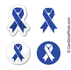 Navy blue ribbon - child abuse - The internationl symbol...