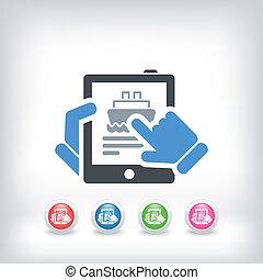 Navy booking on tablet - Navy website agency on vertical ...