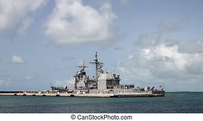Navy Destroyer Shot Two, Parked off Key West Florida