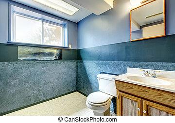 Navy empty bathroom