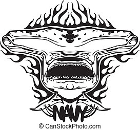 NAVY Military Design - Vector illustration. - NAVY Military...