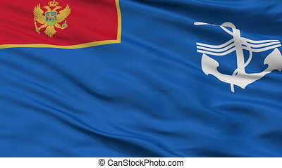 Navy Of Montenegro Flag Closeup Seamless Loop - The Navy Of...