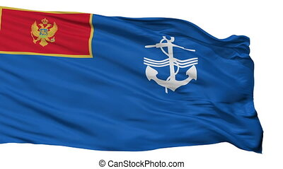 Navy Of Montenegro Flag Isolated Seamless Loop - The Navy Of...