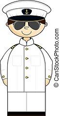 Navy Officer in Whites