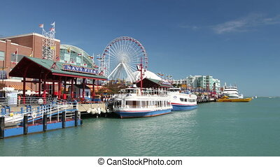 Navy Pier Time Lapse - CHICAGO - CIRCA SEPTEMBER 5, 2011 -...