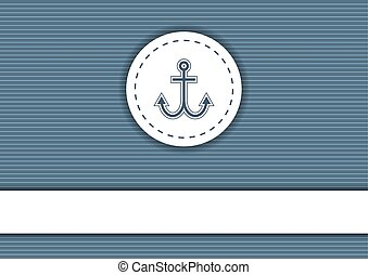 Navy poster with striped background