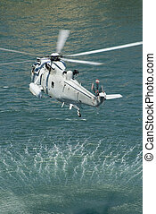 navy sea king helicopter - the austrlian navy practicing a...