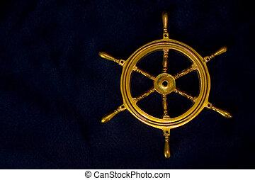 Navy stuff - Old boat steering wheel