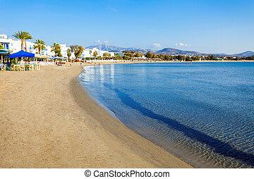Naxos city beach, Greece - Naxos Agios Georgios city beach ...