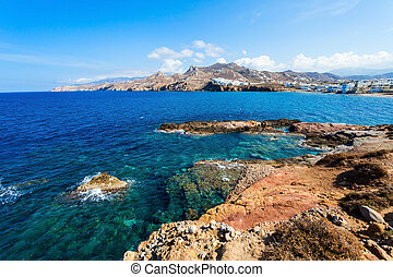 Naxos island aerial view - Naxos island aerial panoramic...