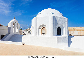Naxos old town, Greece - Roman Catholic Church inside Naxos...