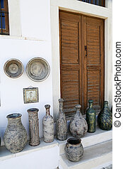 Naxos - The small streets of Apiranthos at the Naxos island...