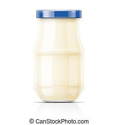 Nayonnaise in glass jar.