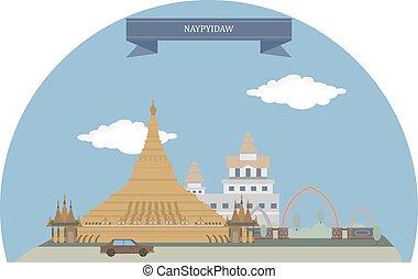 Naypyidaw, Myanmar - Naypyidaw, capital city of Myanmar,...