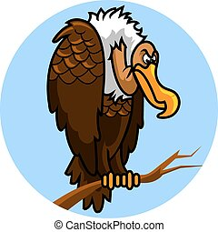 Nazar - vector illustration of nazar bird, a corpse...