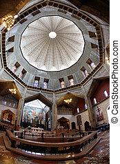 nazareth, イスラエル, バシリカ, -, クラシック, ドーム, お告げの祝日, 教会