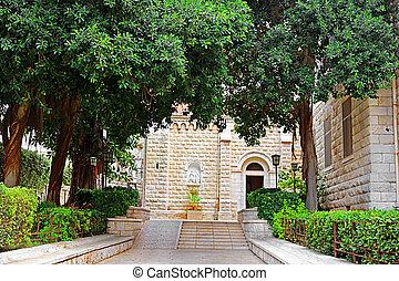 nazareth, 入口, ヨセフ, イスラエル, 教会