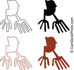 Nazca Lines Set - Vector illustration