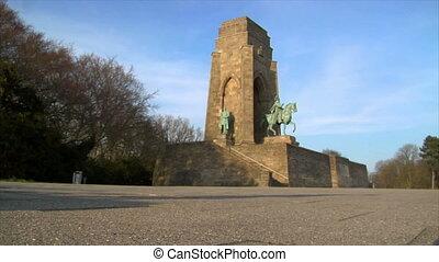nazi boots jump emperor monument - Nazi Metaphor. Combat...