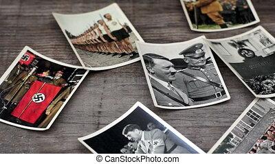 Nazi Cigarette Cards - A dolly shot of Nazi Cigarette Cards...