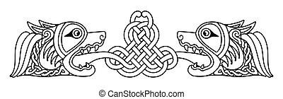nazionale, drawing., celtico