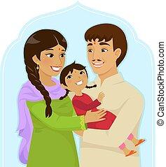 nazionale, india, ragazza, giorno, bambino