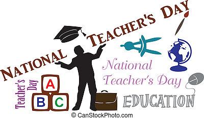nazionale, insegnanti, giorno