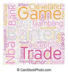 NBA Barter Deadline Bank Perspective text background wordcloud concept