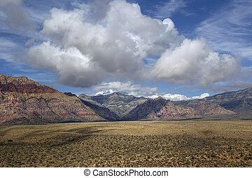 nca, cañón, roca roja