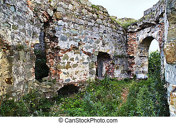 ncient Ukrainian castle - ruins of an ancient Ukrainian...