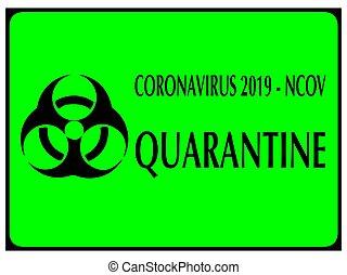 ncov, 検疫, 印, biohazard, coronavirus, ベクトル